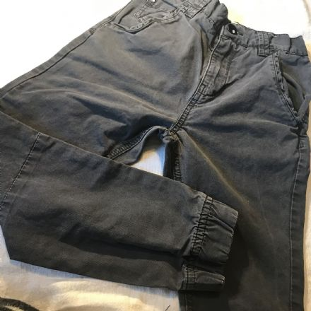 8 Year Charcoal Cuffed Trousers